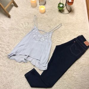 Abercrombie and Fitch hi low flowy tank